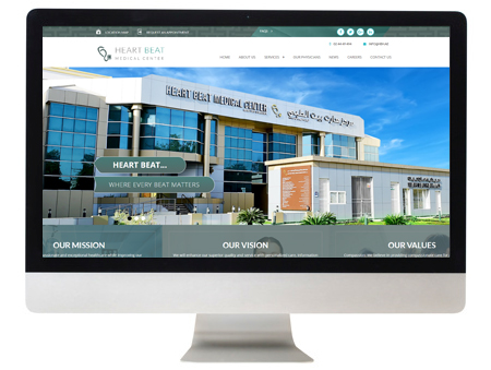 Heart Beat Medical Center | Website Launched by Pentagon