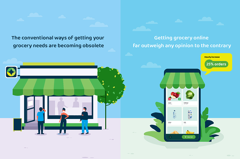 Make your grocery Business Online and gain Profit out of it