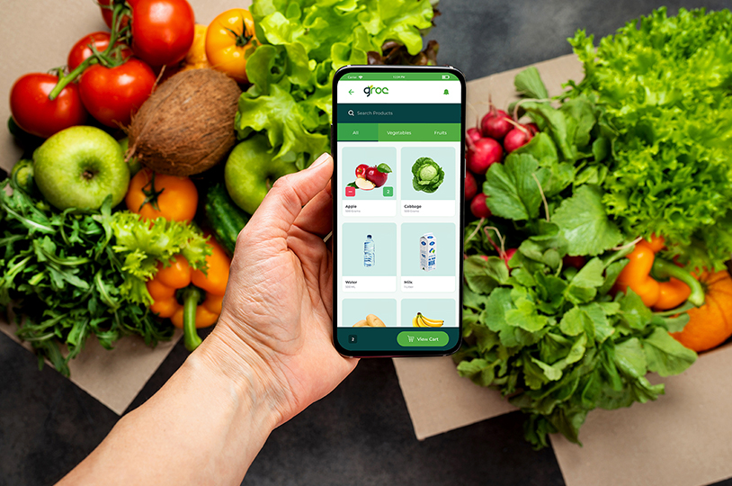 Grocery Shops to Online | Groc App by Pentagon